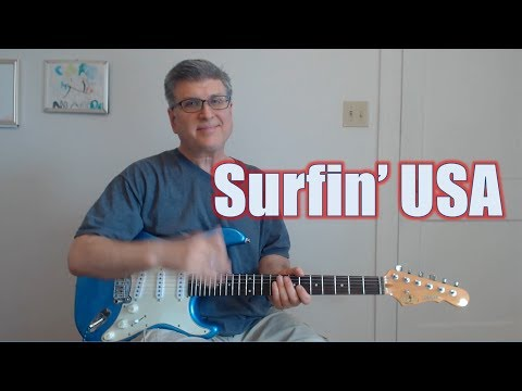 Surfin' USA - Riff And Solos  (Guitar Lesson With TAB