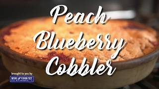 From Larry&#39s Kitchen - Quick Peach Blueberry Cobbler