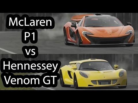 McLaren P1 vs Hennessey Venom GT Top Gear