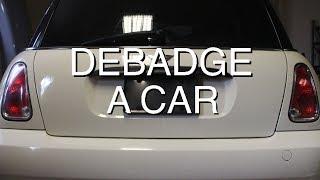 DIY: Debadge a Car