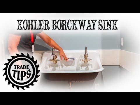 Kohler Brockway Wall Mounted Wash Sink Installation - Trade Tips
