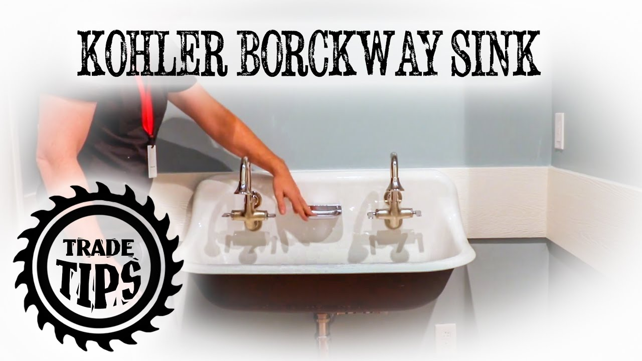 kohler brockway wall mounted wash sink installation trade tips