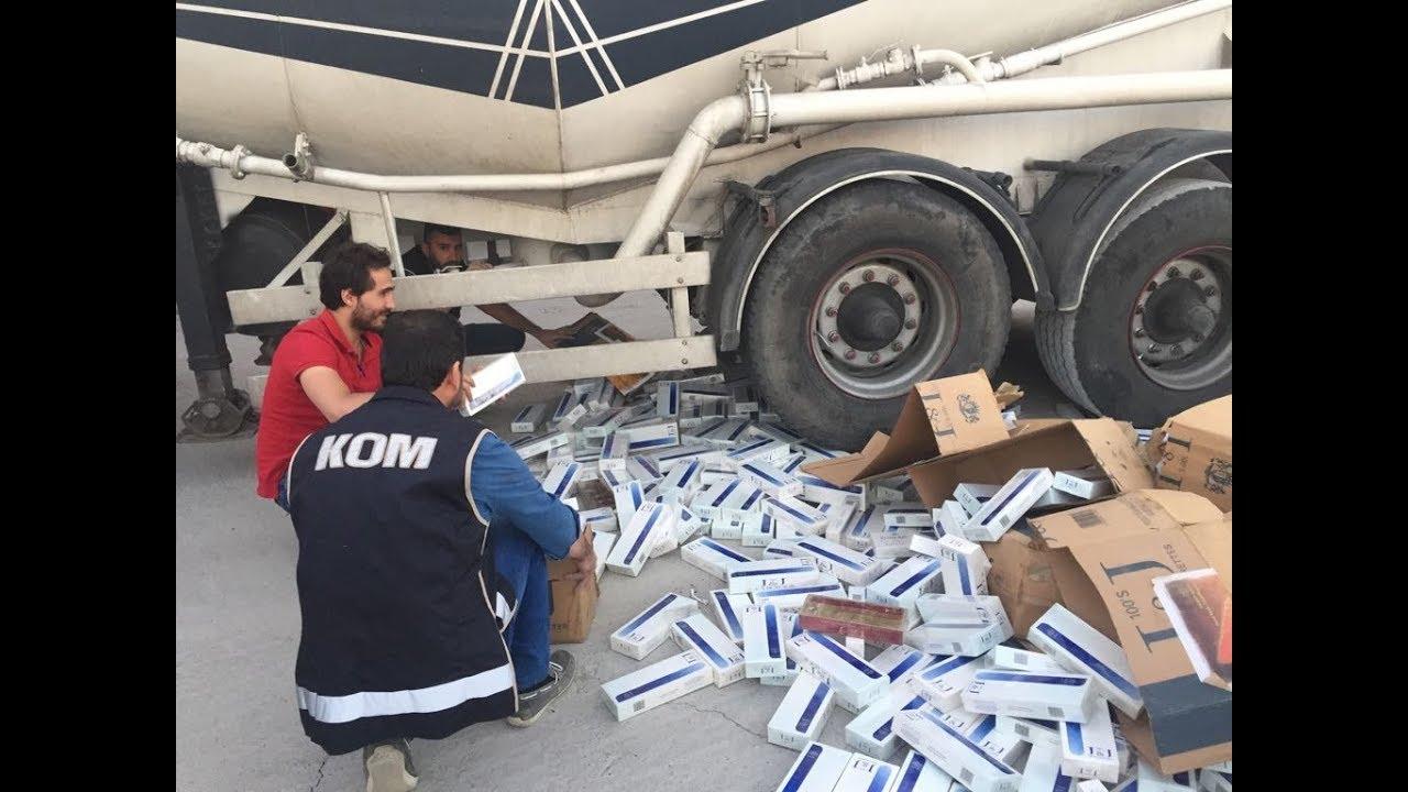 PKK'ya Ait Mikser İçine Gizlenmiş 140 Bin Paket Sigara Ele Geçirildi