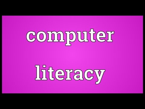 Computer literacy Meaning