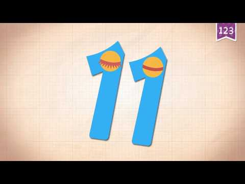 Learn Number Eleven 11 in English & Counting, Math by Endless Alphabet   Kids Educational Video