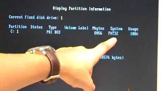 CMSY Video 11 Partitioning Hard Disks in FDISK