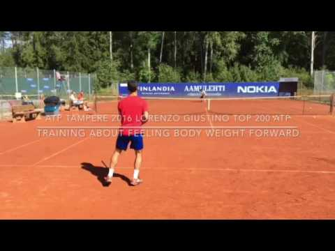 Atp Tampere 2016 Training on Top 200 Lorenzo Giustino