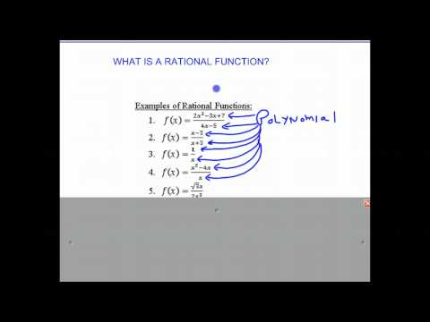 What is a Rational Function?