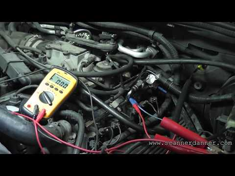 How to test a fuel injector circuit with basic tools (open control wire)