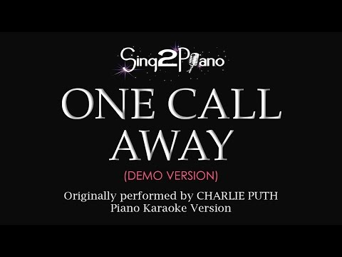 One Call Away (Piano karaoke demo) Charlie Puth