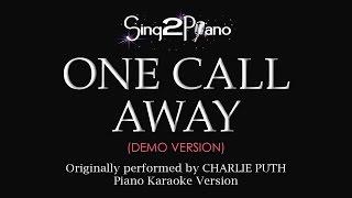One Call Away (Piano karaoke demo) Charlie Puth