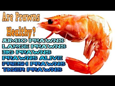 Are prawns healthy : Large Prawns, tiger prawns , jumbo prawns, freshwater prawns  swimming in TANK
