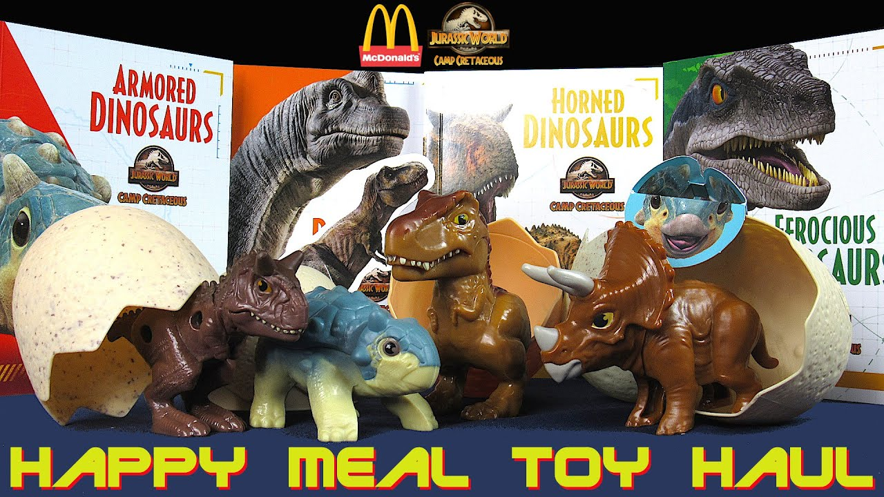Mcdonalds Camp Cretaceous Jurassic World Happy Meal Toy #4 TRICERATOPS-NETFLIX
