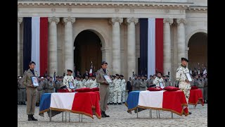 'They died for France, to protect the people of the Sahel,' Macron says in tribute to French troops