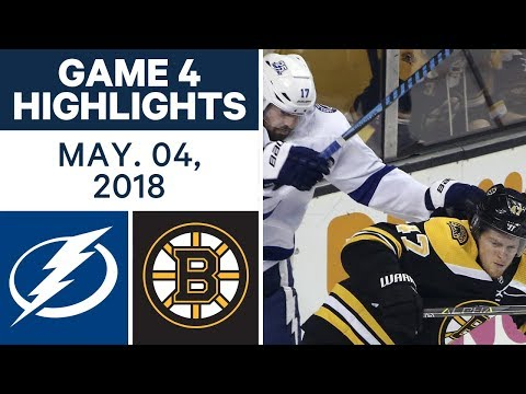 NHL Highlights | Lightning vs. Bruins, Game 4 - May 04, 2018