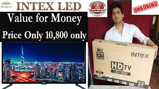 Intex 80 cm 32 Inches HD Ready LED TV LED-3236 Black Unboxing and Review in Hindi NEW MODEL