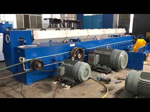 HXE-400/13DL Copper & Aluminium rod breakdown machine before shipping to Guyana