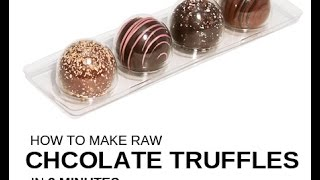 """How to make """"raw"""" *chocolate truffles* from scratch under 3 minutes Thumbnail"""