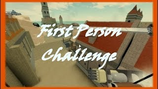 FIRST PERSON CHALLENGE!! | Roblox: Attack On Titan: Revenge