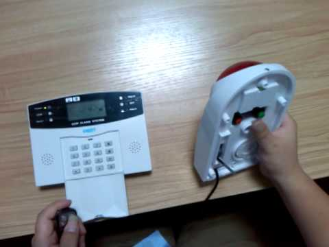 how 500 gsm alarm matched with wireless siren