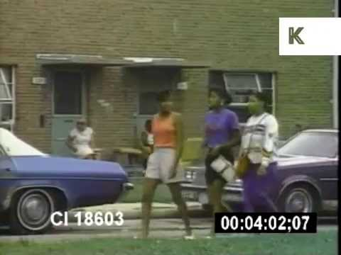 1990s Chicago, Poverty, African American, Archive Footage