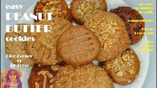 Easy Peanut Butter Cookies | No Eggs | No Butter | No Milk | 5 Ingredients | Easy Rice Cooker Recipe