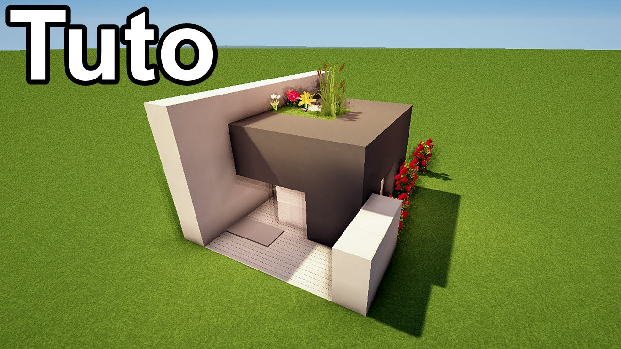 MINECRAFT TUTO - Maison moderne de 10x7 blocks ! - YouTube