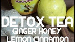 Detox Drink - Ginger Cinnamon Lemon Honey - Healthy Tea Hot Or Cold