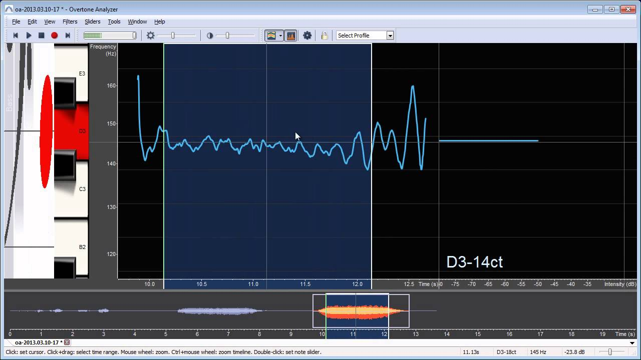 Overtone Analyzer Quickstart Tutorial: record and visualize your voice