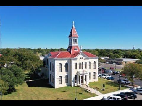 Wilson Co Tx Courthouse Square  - Floresville Texas