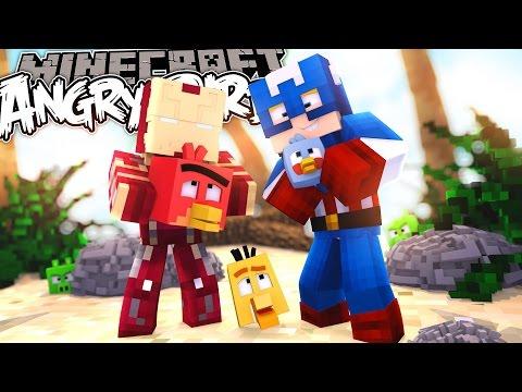 Minecraft Adventure - THE ANGRY BIRDS MOVIE!!