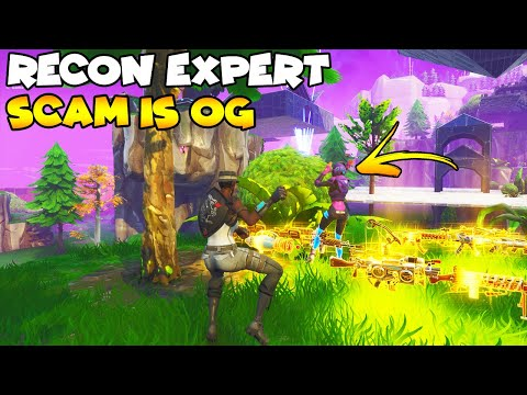 New Recon Expert Scam Is OG! 💯😱 (Scammer Gets Scammed) Fortnite Save The World