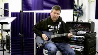 Demonstration Of Piezo Pickup-loaded Electric Guitars