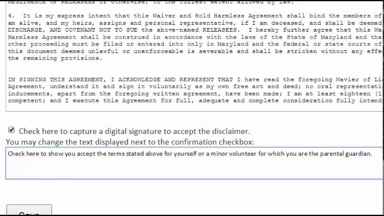 Upload a Waiver