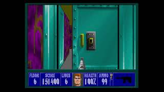 Wolfenstein 3D Playthrough Mission 2 Floor 6