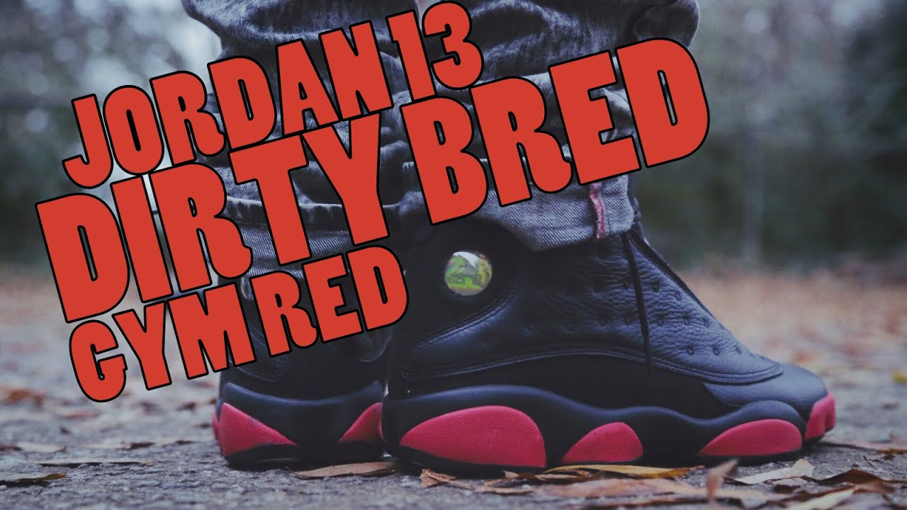 99d9689285c12b ... sweden 2014 jordan 13 dirty bred gym red w on foot youtube 2adfe eb0a8
