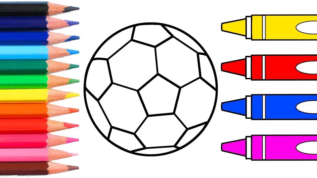 Futbol Topu çizme Ve Boyama çocuklar Için Boyama Kitabı Youtube