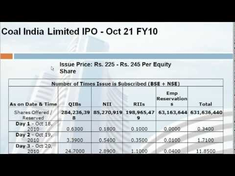 How to Check Over-Subscription (Or) Bid Details of an IPO - bse2nse.com