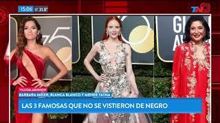 Las 3 famosas que no se vistieron de negro para los Globo de Oro 2018