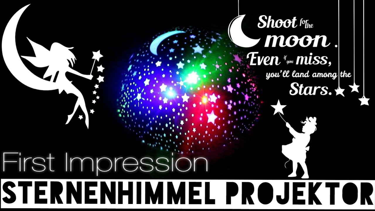 Produkttest Einschlafhilfe Sternen Projektor QederTEK Nachtlicht ...
