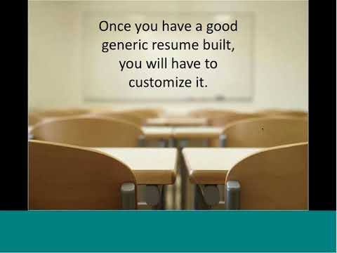Customizing your Resume for Results in your Job Search