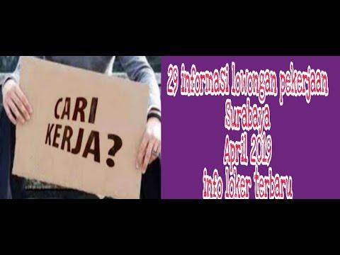 29 Info Lowongan Pekerjaan Surabaya April 2019   Info Loker Terbaru