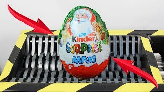 Experiment Shredding Maxi Kinder Egg Surprise Lego And Toys | The Crusher
