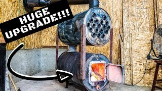 SHOP GETS A MASSIVE UPGRADE!!! Is A Double Barrel Stove The Best At Heating?