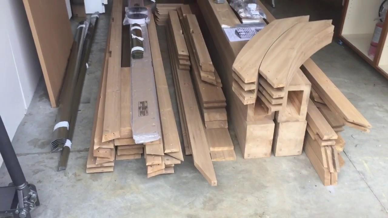 Pt 1 Costco Yardistry 12x14 Wood Gazebo Unboxing Youtube