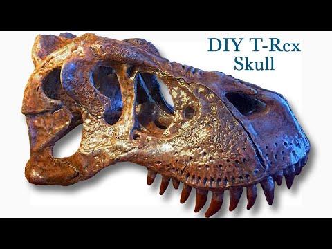 DIY Fossil T-Rex Skull