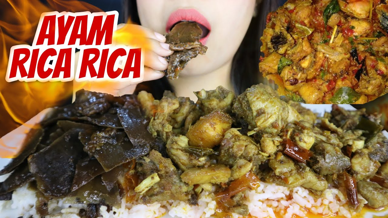 MASAKAN KHAS TORAJA 🍛 - AYAM RICA RICA PEDAS + SAYUR PANGI + NASI 🐔 | asmr mukbang Indonesia 🇮🇩