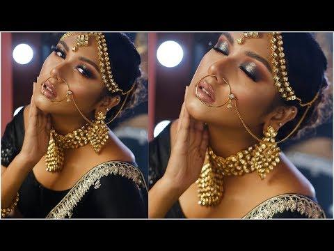 Black and Golden Bridal Makeup Tutorial | Bridal Week Day-3 | Raisa Naushin thumbnail