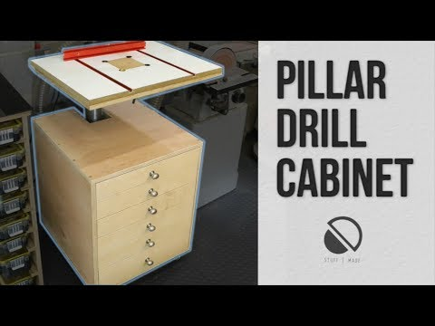 DIY - Rolling / mobile Drill Press Cabinet