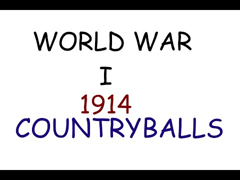 World War I - 1914 - CountryBalls